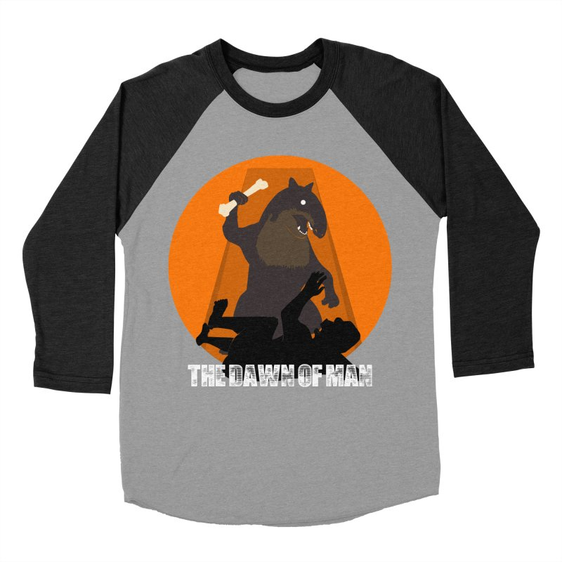 Dawn of Man Women's Baseball Triblend T-Shirt by Bazaar of the Bizzare