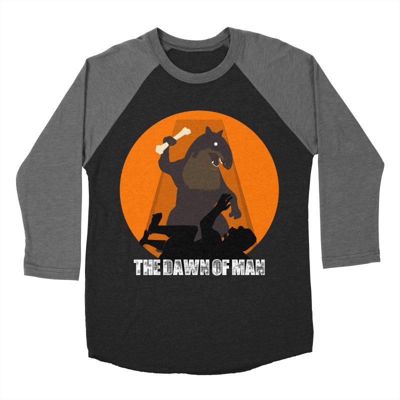 Dawn of Man Men's Baseball Triblend T-Shirt by Bazaar of the Bizzare