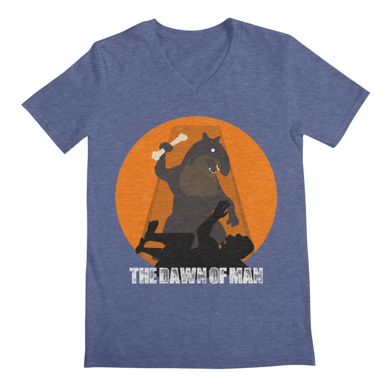 Dawn of Man Men's V-Neck by Bazaar of the Bizzare