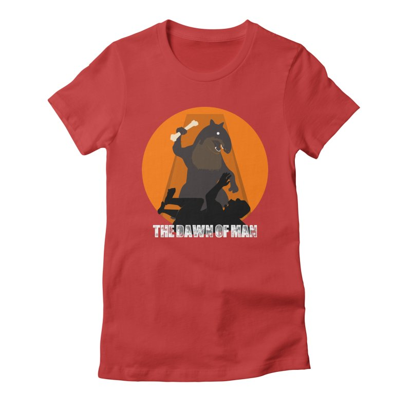 Dawn of Man Women's Fitted T-Shirt by Bazaar of the Bizzare