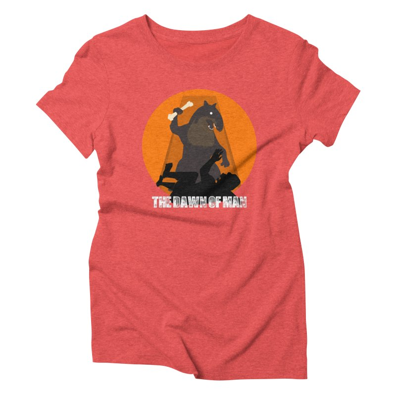 Dawn of Man Women's Triblend T-shirt by Bazaar of the Bizzare