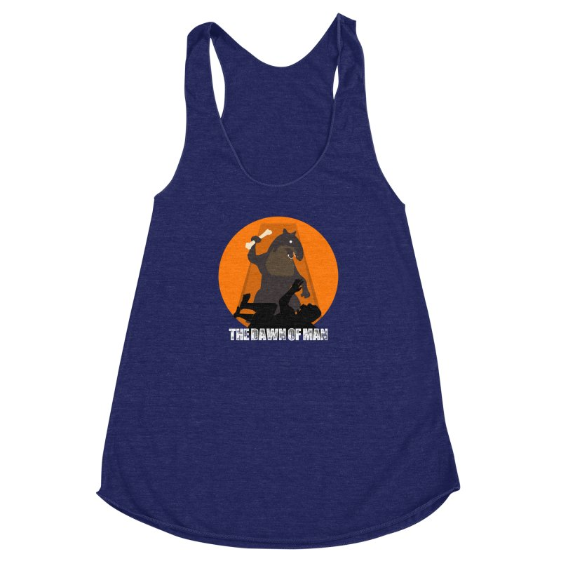 Dawn of Man Women's Racerback Triblend Tank by Bazaar of the Bizzare