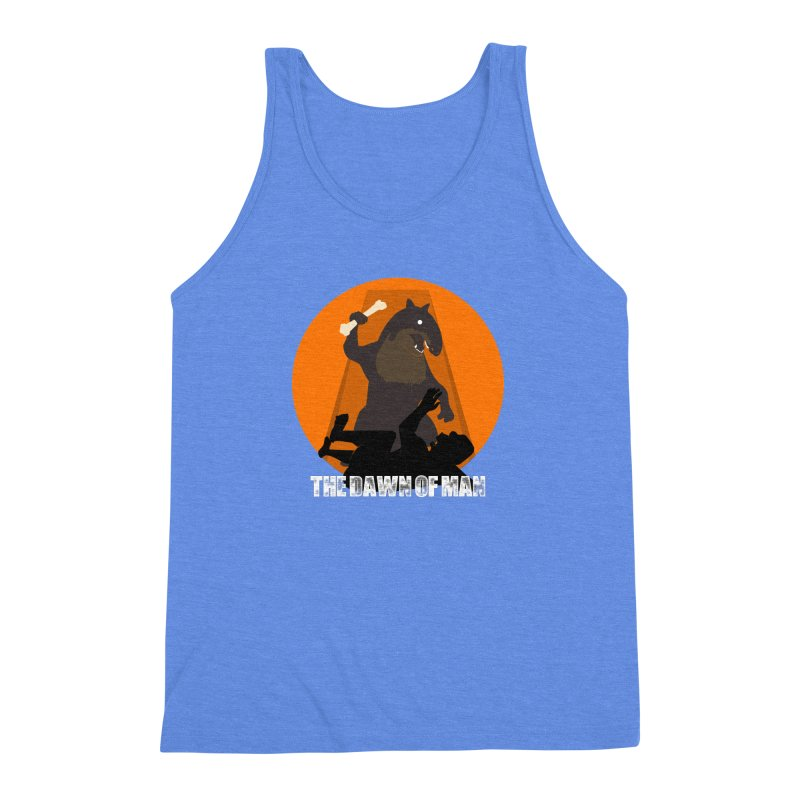 Dawn of Man Men's Triblend Tank by Bazaar of the Bizzare