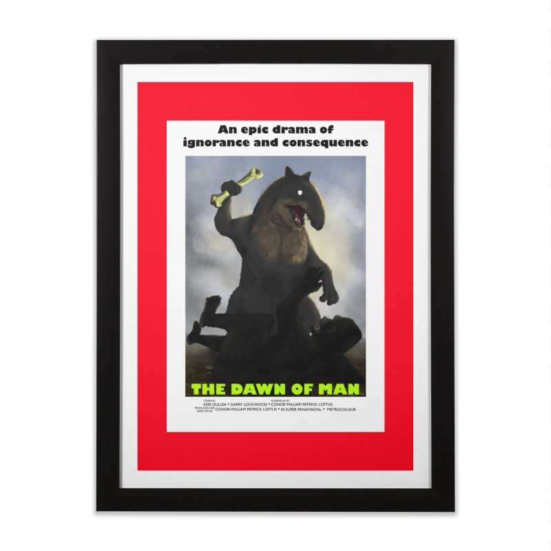 Dawn of Man Home Framed Fine Art Print by Bazaar of the Bizzare