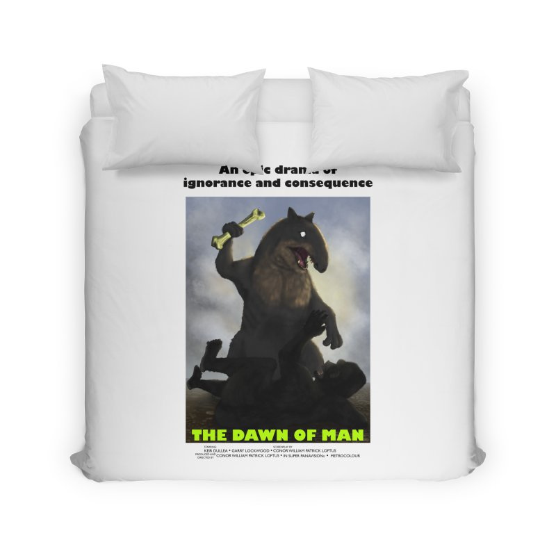 Dawn of Man Poster Home Duvet by Bazaar of the Bizzare