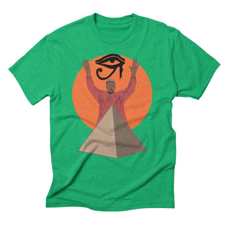 Yeezus Walks Men's Triblend T-Shirt by Bazaar of the Bizzare