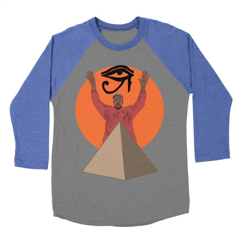 Yeezus Walks Women's Baseball Triblend T-Shirt by Bazaar of the Bizzare