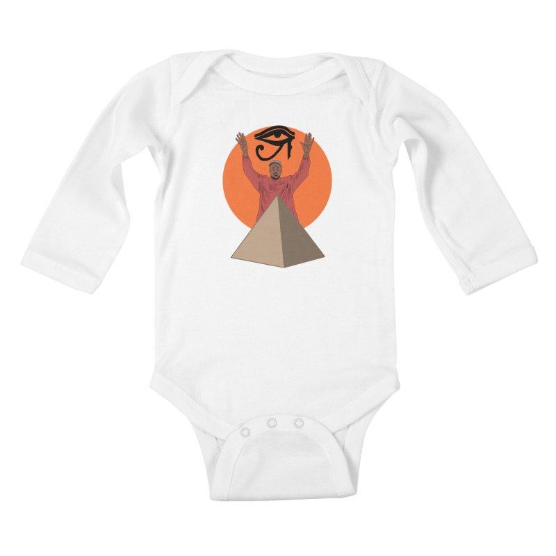 Yeezus Walks Kids Baby Longsleeve Bodysuit by Bazaar of the Bizzare