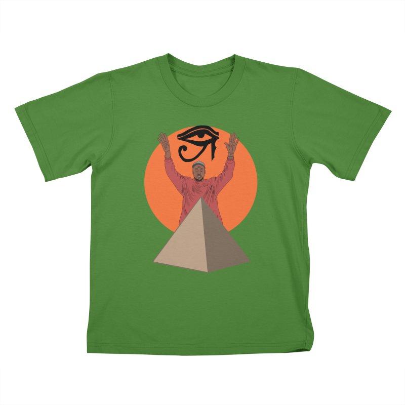 Yeezus Walks Kids T-Shirt by Bazaar of the Bizzare
