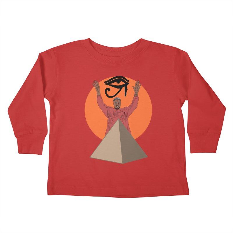 Yeezus Walks Kids Toddler Longsleeve T-Shirt by Bazaar of the Bizzare