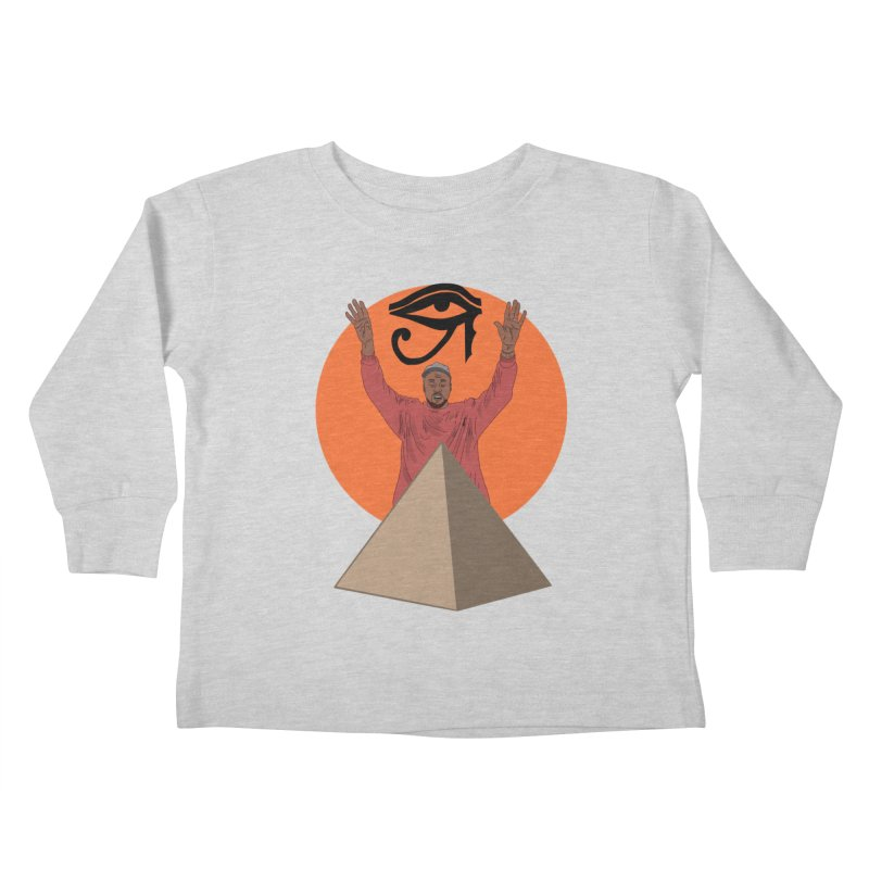 Yeezus Walks Kids Toddler Longsleeve T-Shirt by Bazaar of the Bizzare