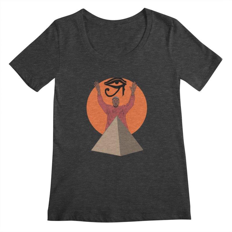 Yeezus Walks Women's Scoopneck by Bazaar of the Bizzare