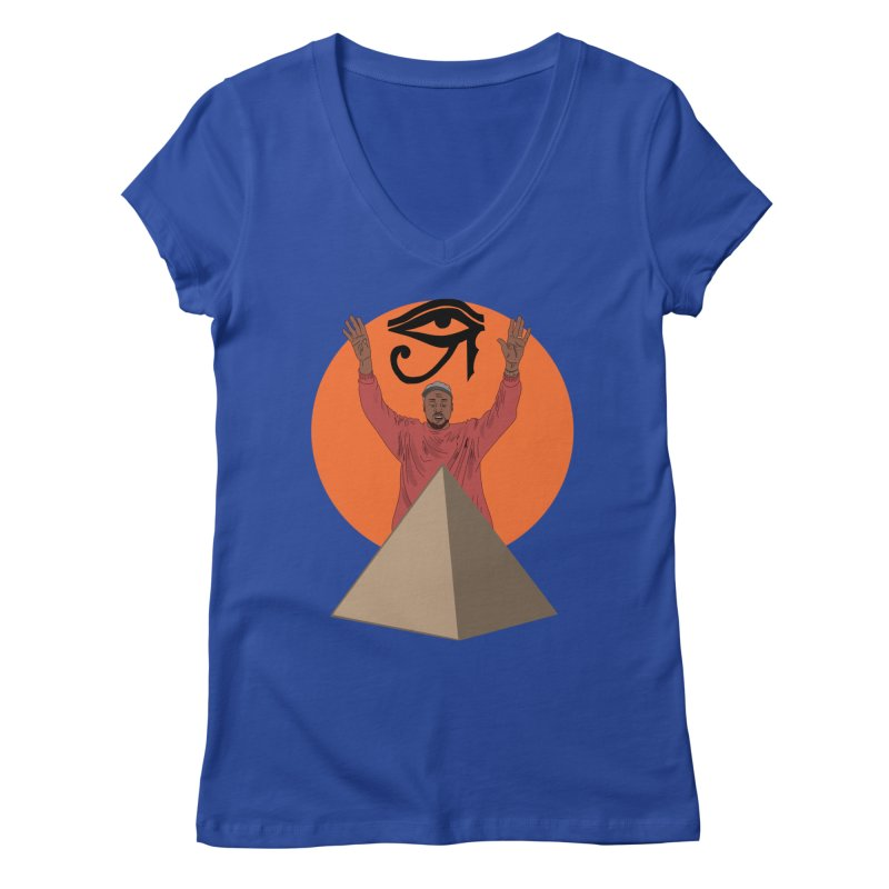 Yeezus Walks Women's V-Neck by Bazaar of the Bizzare