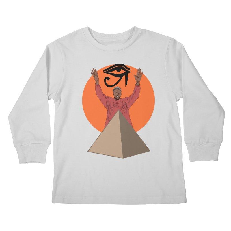 Yeezus Walks Kids Longsleeve T-Shirt by Bazaar of the Bizzare