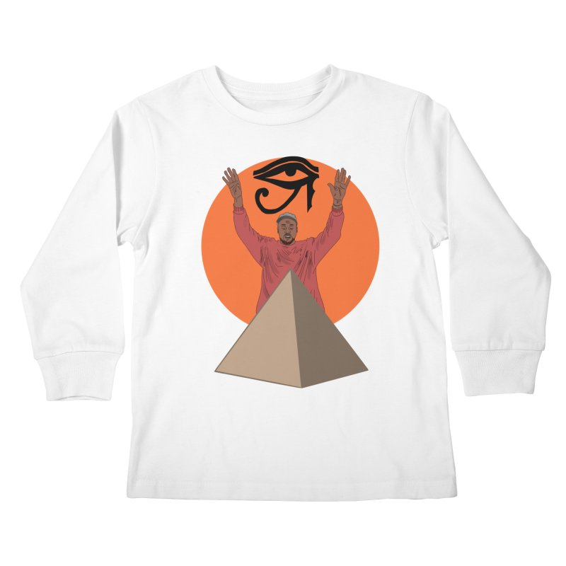 Yeezus Walks Kids Longsleeve T-Shirt by Bazaar of the Bizzare
