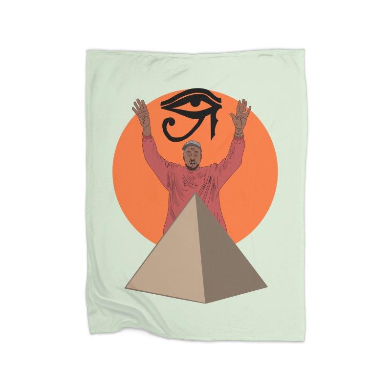 Yeezus Walks Home Blanket by Bazaar of the Bizzare