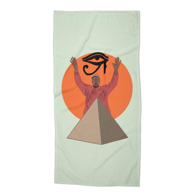 Yeezus Walks Accessories Beach Towel by Bazaar of the Bizzare