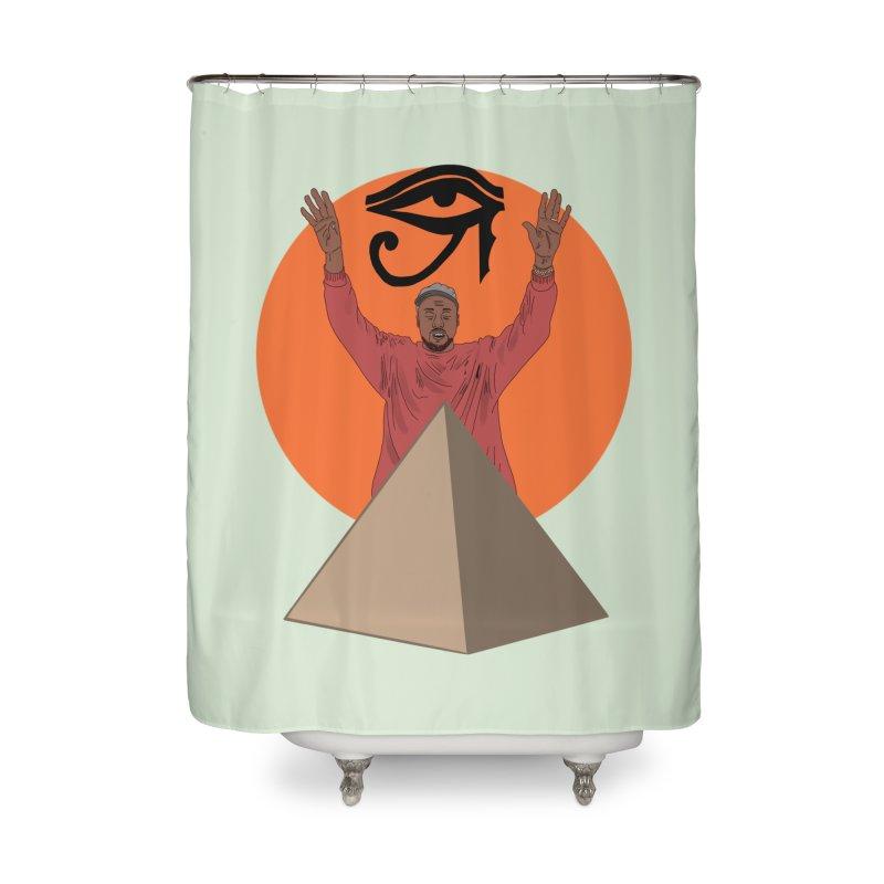 Yeezus Walks Home Shower Curtain by Bazaar of the Bizzare