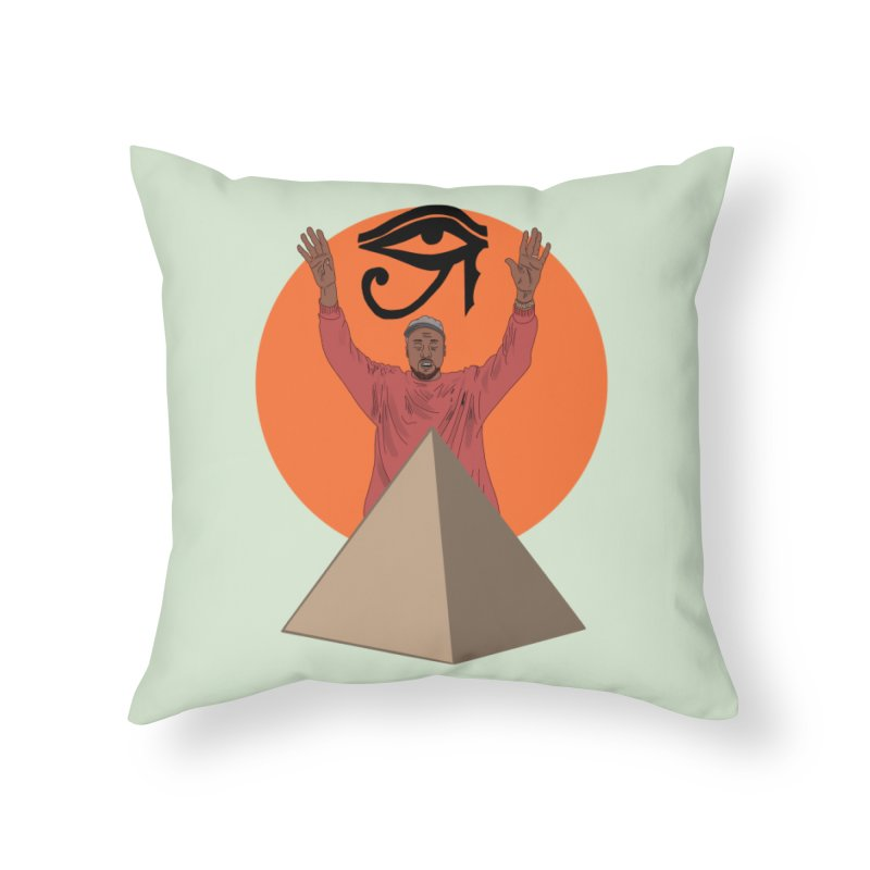 Yeezus Walks Home Throw Pillow by Bazaar of the Bizzare