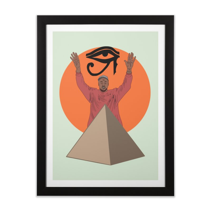 Yeezus Walks Home Framed Fine Art Print by Bazaar of the Bizzare