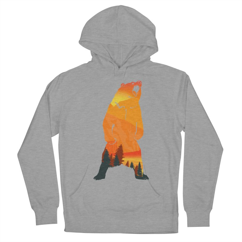 Grizzly Sunset Men's Pullover Hoody by Bazaar of the Bizzare