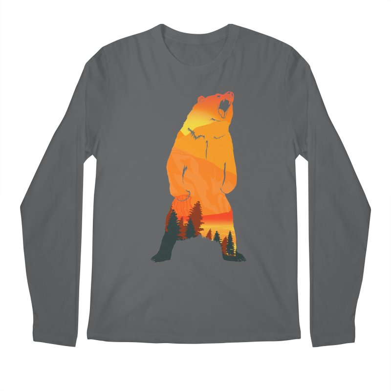 Grizzly Sunset Men's Longsleeve T-Shirt by Bazaar of the Bizzare