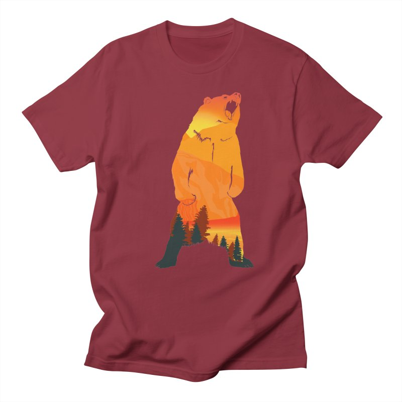 Grizzly Sunset Men's T-shirt by Bazaar of the Bizzare
