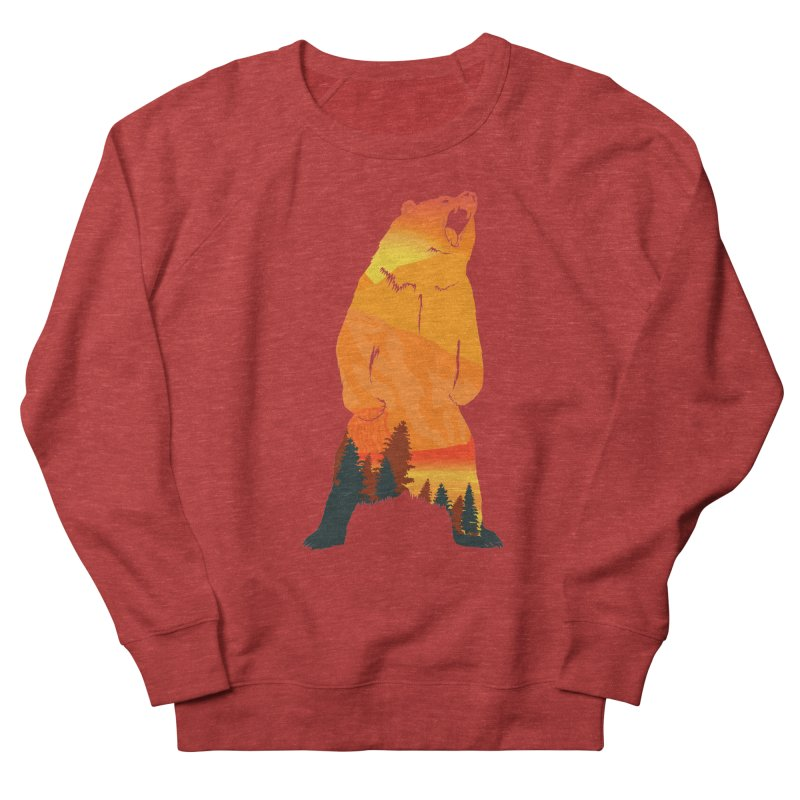 Grizzly Sunset Women's Sweatshirt by Bazaar of the Bizzare