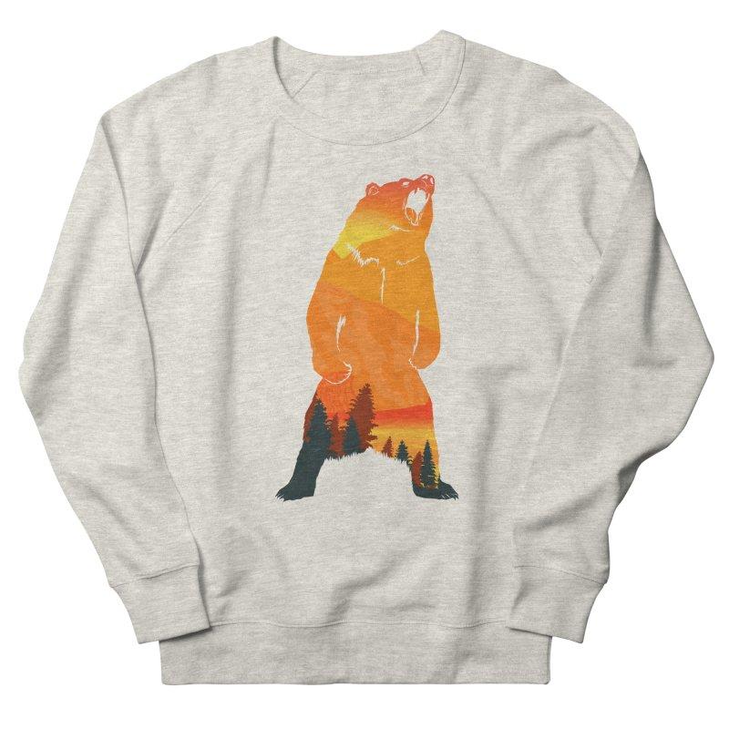 Grizzly Sunset Women's Sweatshirt by Bazaar of the Bizzare