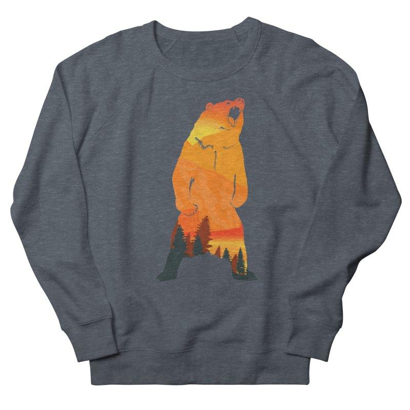 Grizzly Sunset Men's Sweatshirt by Bazaar of the Bizzare