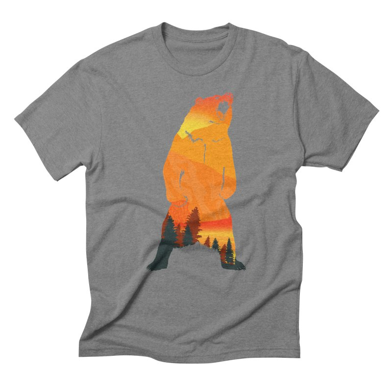 Grizzly Sunset Men's Triblend T-Shirt by Bazaar of the Bizzare