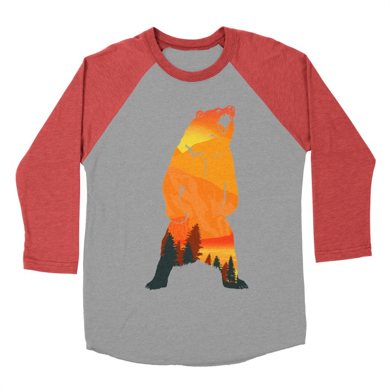Grizzly Sunset Women's Baseball Triblend T-Shirt by Bazaar of the Bizzare