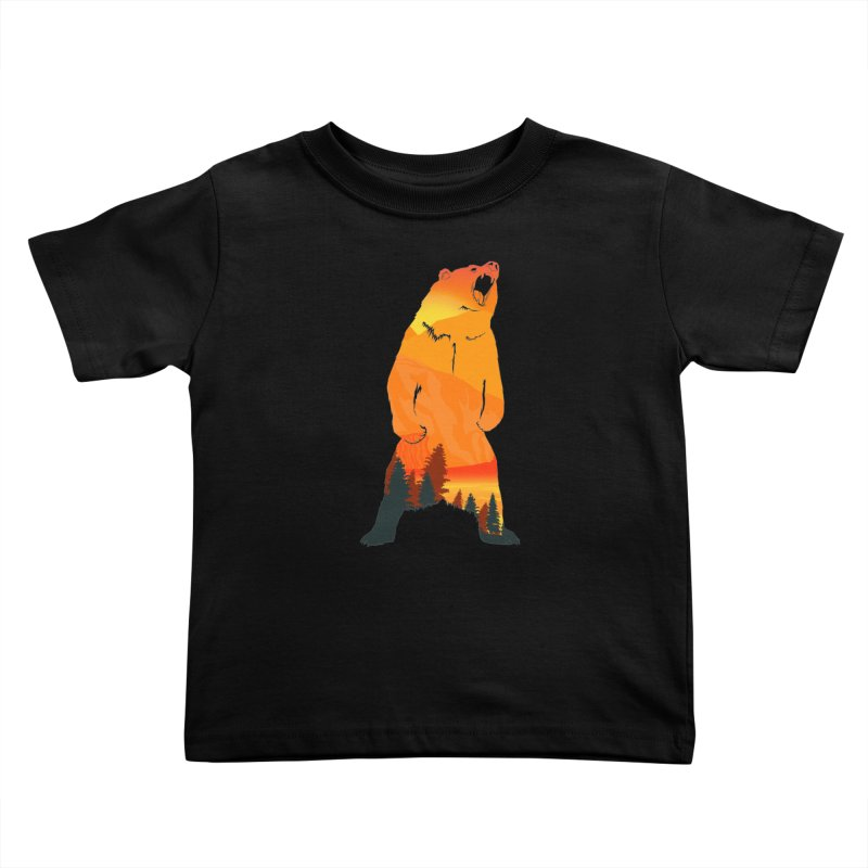 Grizzly Sunset Kids Toddler T-Shirt by Bazaar of the Bizzare