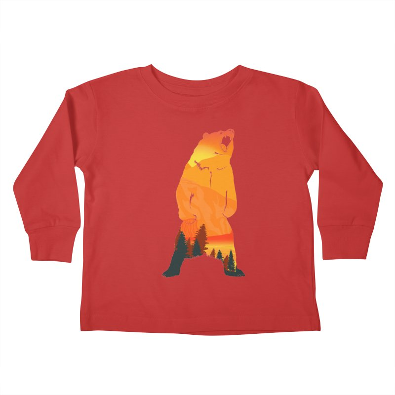 Grizzly Sunset Kids Toddler Longsleeve T-Shirt by Bazaar of the Bizzare