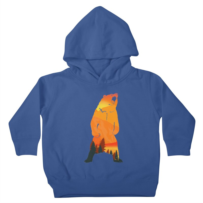 Grizzly Sunset Kids Toddler Pullover Hoody by Bazaar of the Bizzare