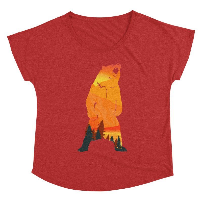 Grizzly Sunset Women's Dolman by Bazaar of the Bizzare