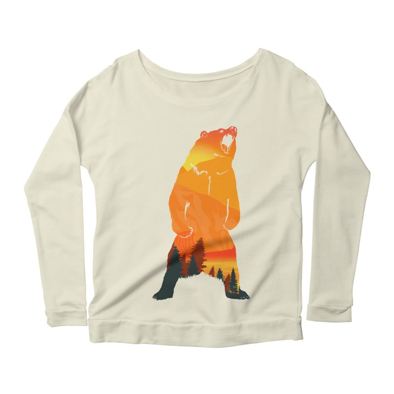 Grizzly Sunset Women's Longsleeve Scoopneck  by Bazaar of the Bizzare