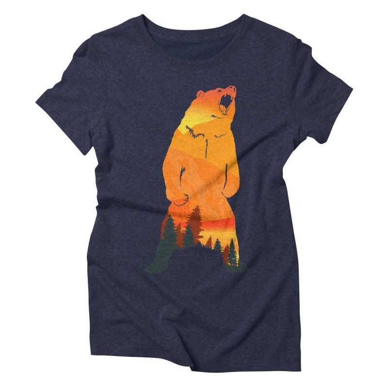 Grizzly Sunset Women's Triblend T-Shirt by Bazaar of the Bizzare