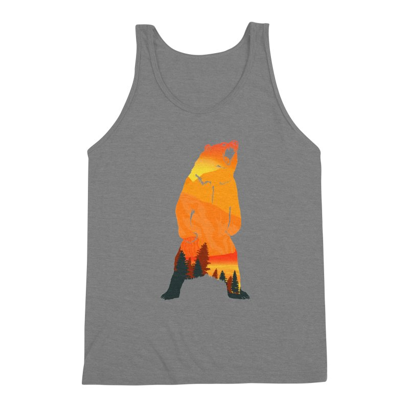 Grizzly Sunset Men's Triblend Tank by Bazaar of the Bizzare