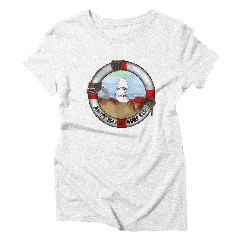 Amity Island Surf Club Women's Triblend T-shirt by Bazaar of the Bizzare