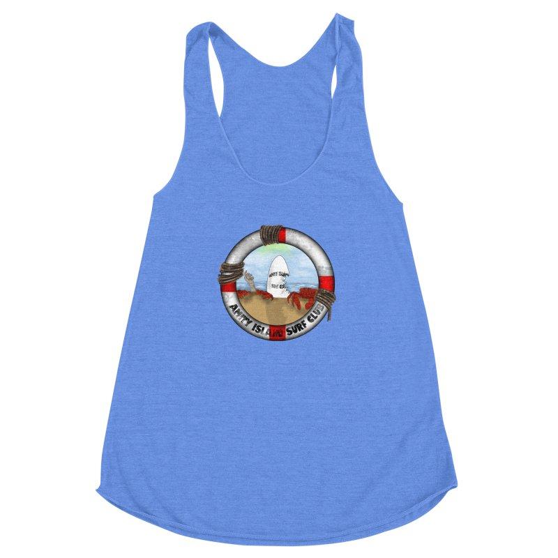 Amity Island Surf Club Women's Racerback Triblend Tank by Bazaar of the Bizzare
