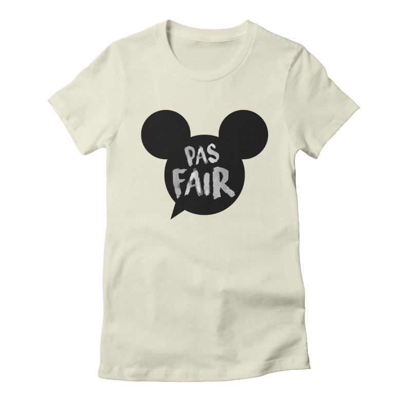 Pas Fair Mickey! Women's Fitted T-Shirt by Bazlinz