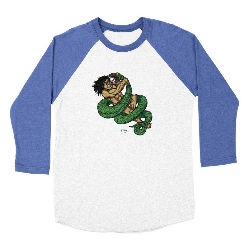 Battle Women's Baseball Triblend T-Shirt by Baked Goods
