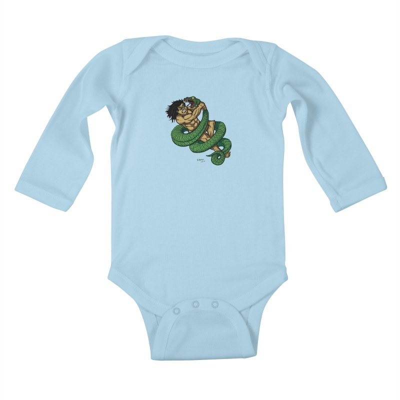 Battle Kids Baby Longsleeve Bodysuit by Baked Goods