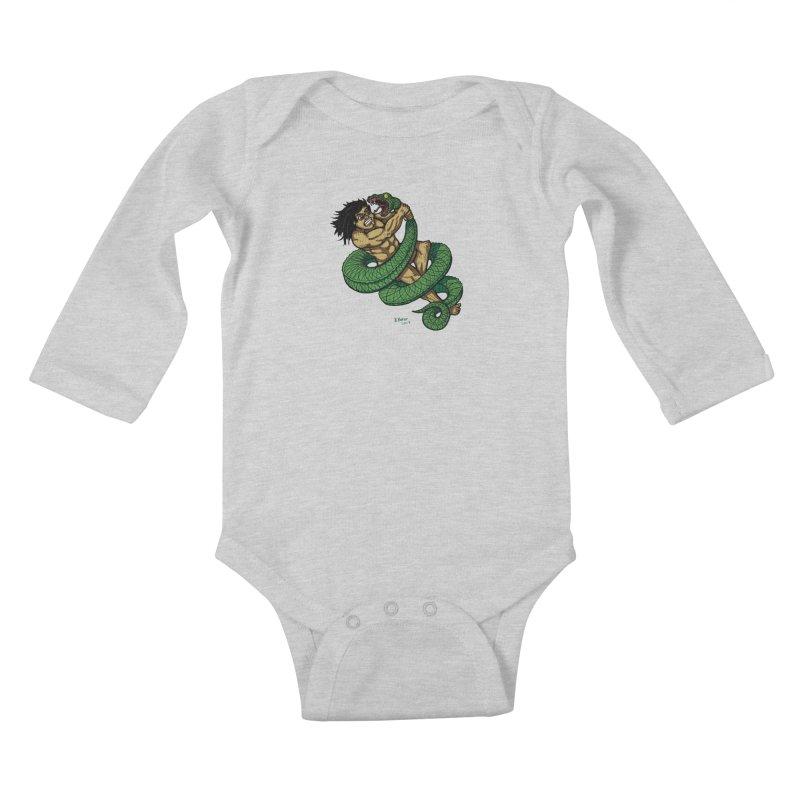Battle Kids Baby Longsleeve Bodysuit by Baked Goods