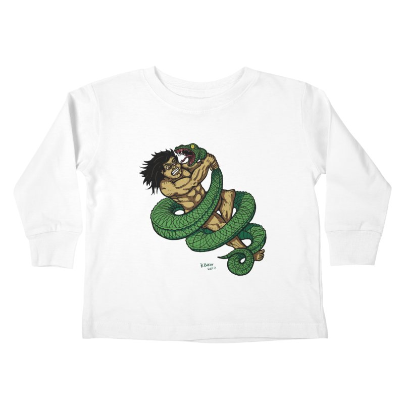 Battle Kids Toddler Longsleeve T-Shirt by Baked Goods