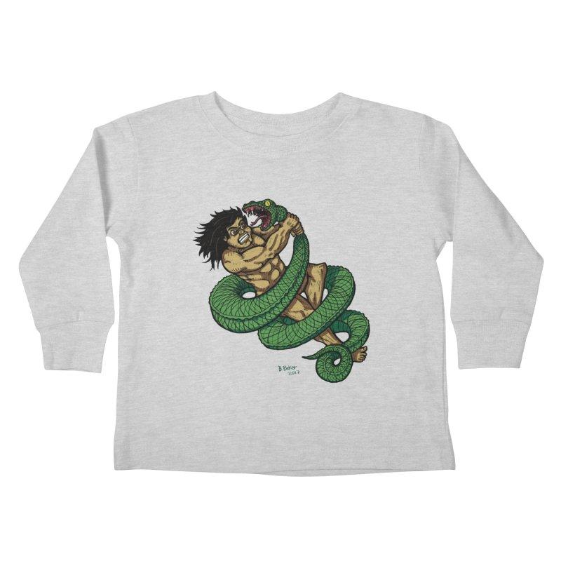 Battle Kids Toddler Longsleeve T-Shirt by Baked Goods