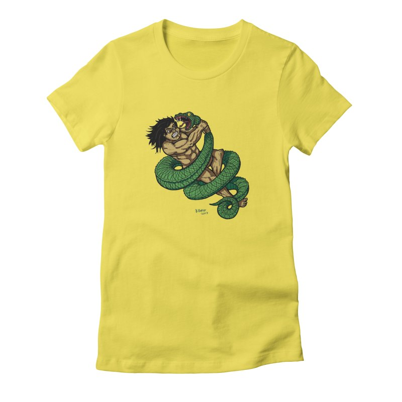 Battle Women's Fitted T-Shirt by Baked Goods