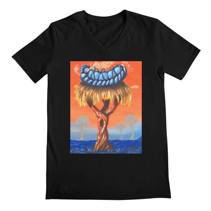 Mr. Caterpillar Men's V-Neck by Baked Goods