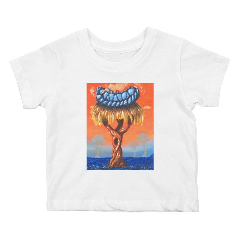 Mr. Caterpillar Kids Baby T-Shirt by Baked Goods